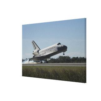 Space shuttle Atlantis touches down 2 Canvas Print
