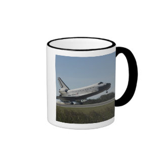 Space shuttle Atlantis touches down 2 Ringer Mug