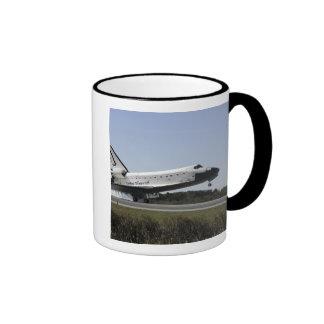 Space shuttle Atlantis touches down 3 Ringer Mug