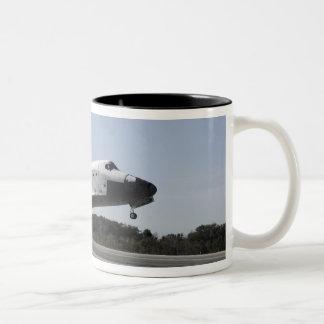 Space shuttle Atlantis touches down 3 Two-Tone Coffee Mug