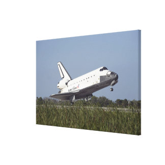 Space shuttle Atlantis touches down on Runway 3 Gallery Wrapped Canvas
