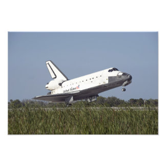 Space shuttle Atlantis touches down on Runway 3 Photo Print