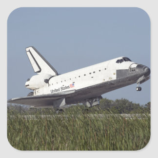 Space shuttle Atlantis touches down on Runway 3 Square Sticker