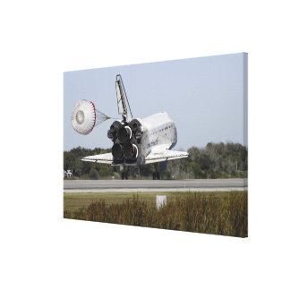 Space shuttle Atlantis unfurls its drag chute 2 Canvas Print