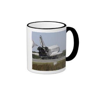 Space shuttle Atlantis unfurls its drag chute 2 Ringer Mug