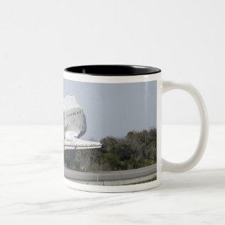 Space shuttle Atlantis unfurls its drag chute 2 Two-Tone Coffee Mug