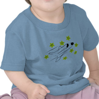 Space Shuttle Baby Pale Blue T-Shirt