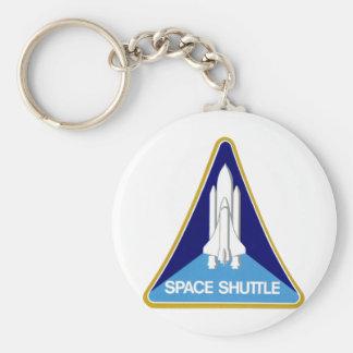 SPACE SHUTTLE BASIC ROUND BUTTON KEYCHAIN