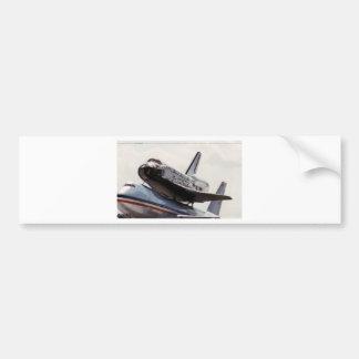 space shuttle car bumper sticker