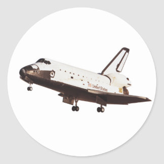 Space Shuttle Challenger Classic Round Sticker