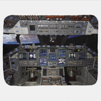 Space Shuttle Cockpit Baby Blankets