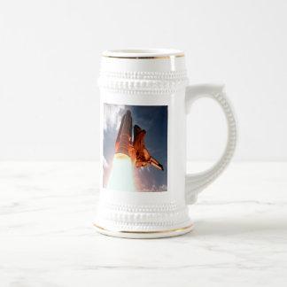 Space Shuttle Columbia Blasts Off Beer Stein