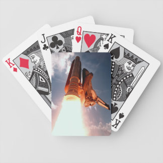 Space Shuttle Columbia Blasts Off Bicycle Playing Cards