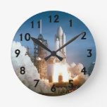 Space Shuttle Columbia Blasts Off Wall Clocks