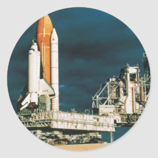 Space Shuttle Columbia Classic Round Sticker