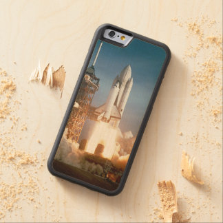 Space Shuttle Columbia launching Carved® Maple iPhone 6 Bumper Case