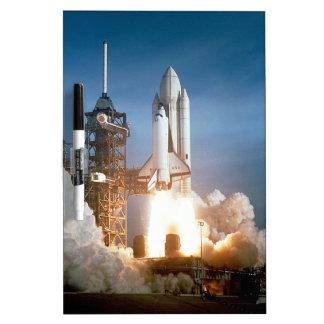 Space Shuttle Columbia launching Dry-Erase Board