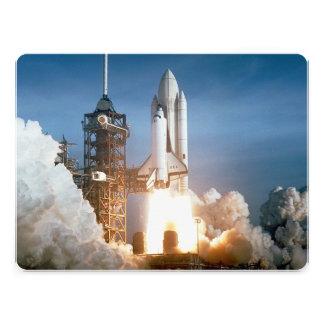 Space Shuttle Columbia Launching Invitation