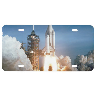 Space Shuttle Columbia launching License Plate