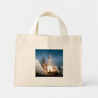 Space Shuttle Columbia launching Mini Tote Bag