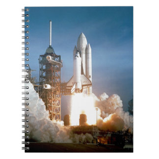 Space Shuttle Columbia launching Notebook
