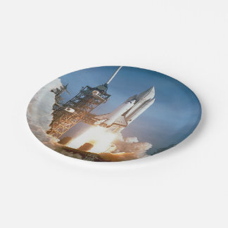 Space Shuttle Columbia launching Paper Plate