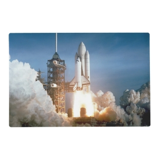 Space Shuttle Columbia Launching Placemat at Zazzle