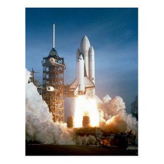 Space Shuttle Columbia launching Postcard