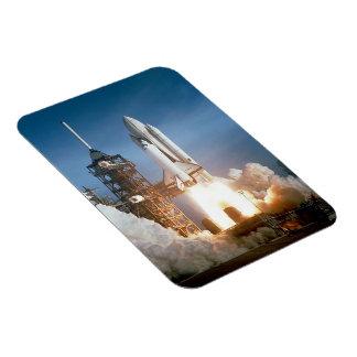 Space Shuttle Columbia launching Rectangular Photo Magnet
