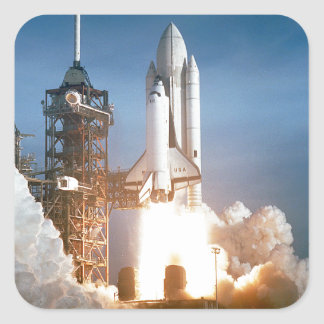 Space Shuttle Columbia launching Square Sticker