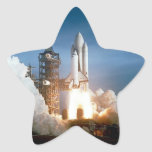 Space Shuttle Columbia Launching Star Sticker