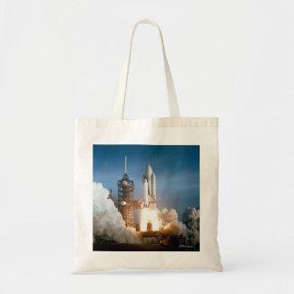 Space Shuttle Columbia launching Tote Bag