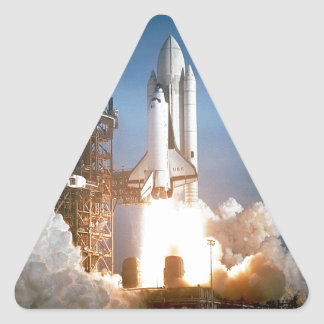 Space Shuttle Columbia launching Triangle Sticker