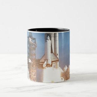 Space Shuttle Columbia Launching Two-Tone Coffee Mug