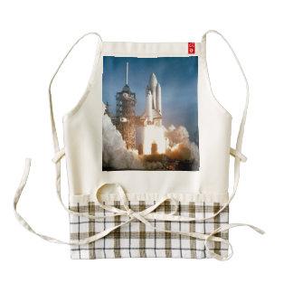 Space Shuttle Columbia launching Zazzle HEART Apron