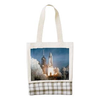 Space Shuttle Columbia launching Zazzle HEART Tote Bag