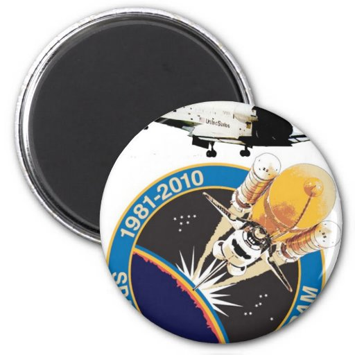 Space Shuttle Commemorative Final Flight Fridge Magnets