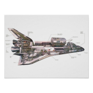 Space Shuttle cross section Posters