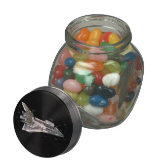Space Shuttle Cutaway Glass Candy Jars