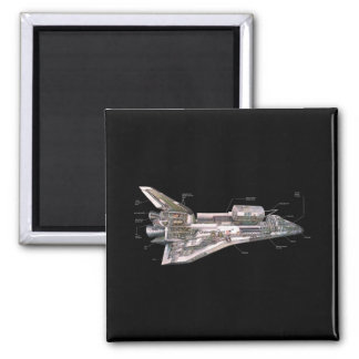 Space Shuttle Cutaway Magnet