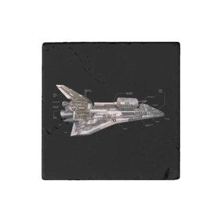 Space Shuttle Cutaway Stone Magnet