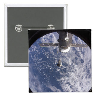 Space Shuttle Discovery 11 2 Inch Square Button