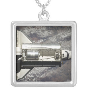 Space Shuttle Discovery 3 Silver Plated Necklace