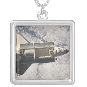 Space Shuttle Discovery 7 Silver Plated Necklace