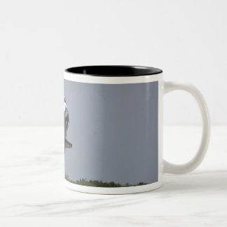 Space Shuttle Discovery approaches landing 2 Two-Tone Coffee Mug