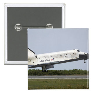 Space Shuttle Discovery approaches landing 4 2 Inch Square Button