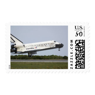 Space Shuttle Discovery approaches landing 4 Postage