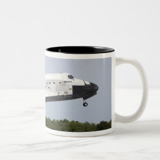 Space Shuttle Discovery approaches landing 4 Two-Tone Coffee Mug