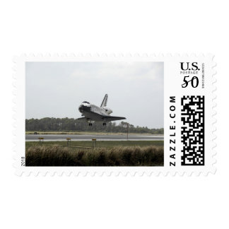 Space Shuttle Discovery approaches landing Postage