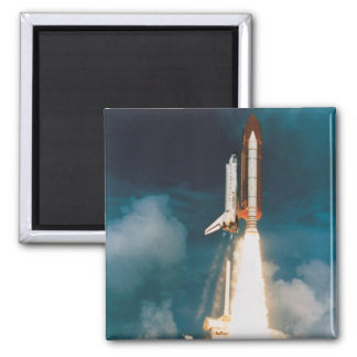 Space Shuttle Discovery Blast Off 2 Inch Square Magnet